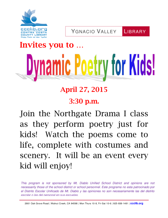 Dynamic Poetry for Kids! : Performing Arts - school -