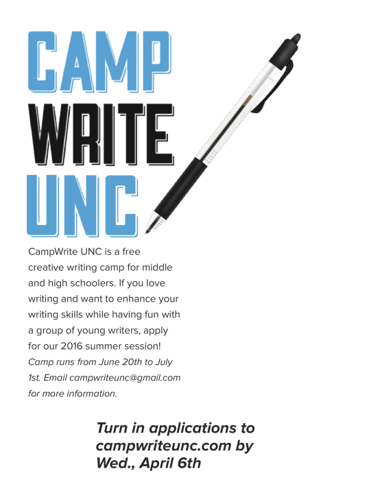 Creative writing summer camps