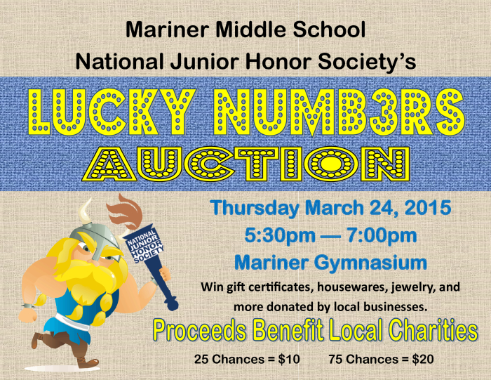 NJHS Lucky Number Auction : Parent Groups - school -