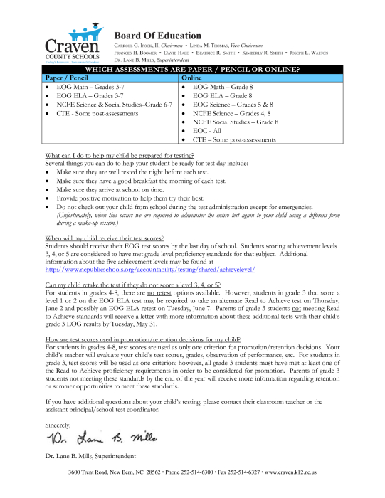 Testing Approaching Letter : Parent Groups - school -