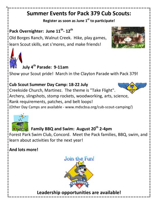 Cub Scout Pack 379 : Parent Groups - school -