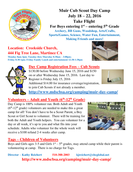 Join Cub Scouts - Come to Cub Scout Camp : Multi-Activity - school -