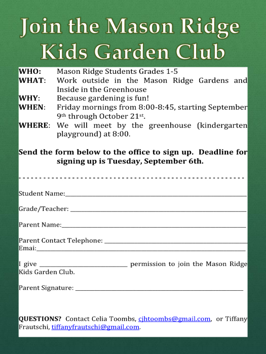 Click the flyer below to view all pages. Garden Club   School   school