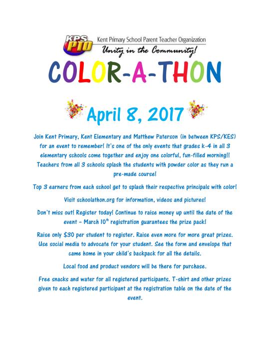 Color-A-Thon - Register Today! : Parent Groups - school -