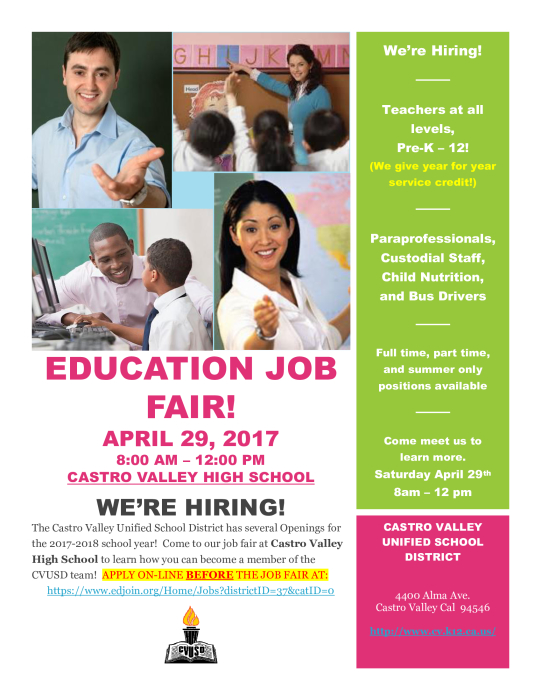 CVUSD Job Fair : School - school -