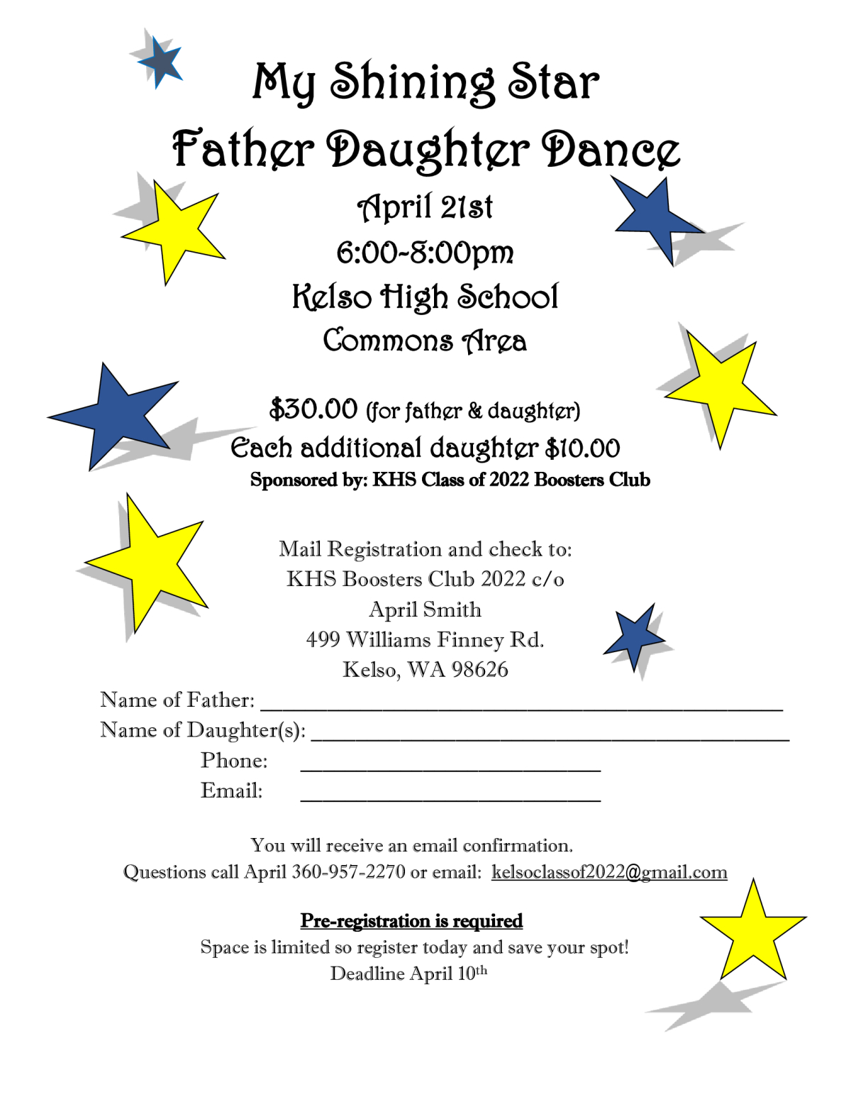 Image of a flyer titled Father Daughter Ball