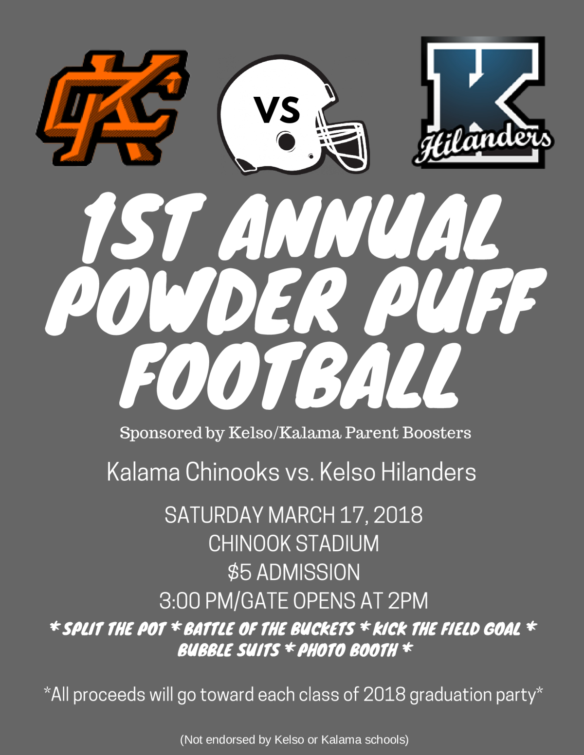 Image of a flyer titled Powder Puff Football