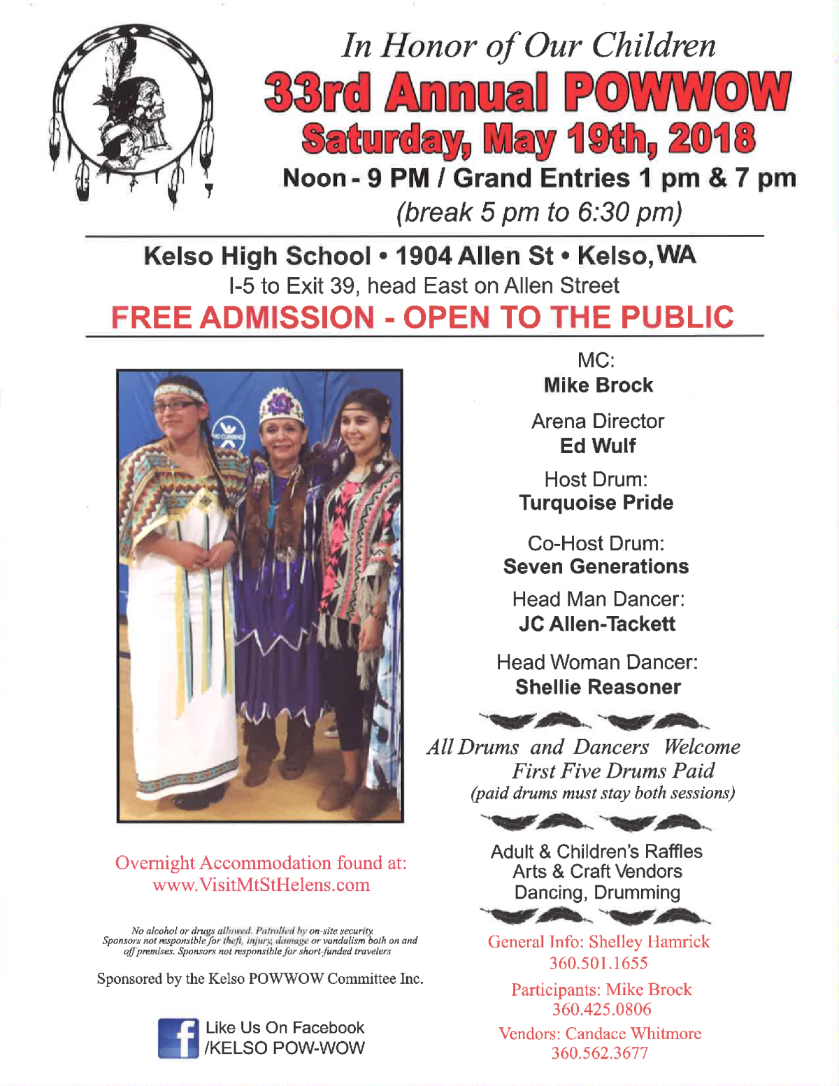 Image of a flyer titled 33rd Annual Indian Education Powwow