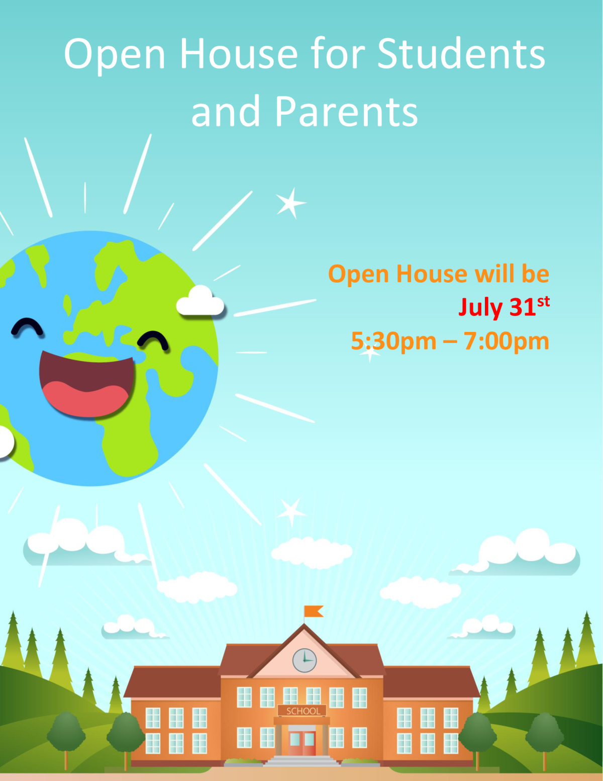 Image of a flyer titled Open House