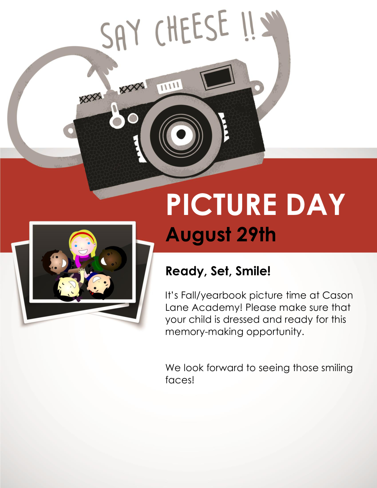 Image of a flyer titled Picture Day