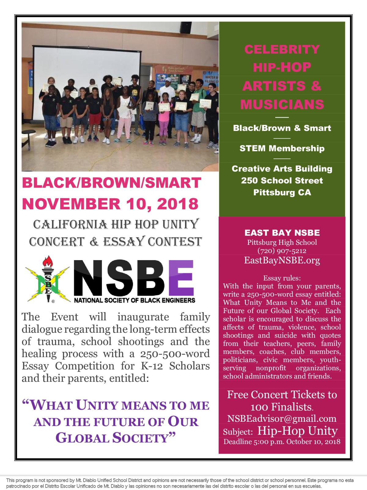 Image of a flyer titled Unity Essay Contest