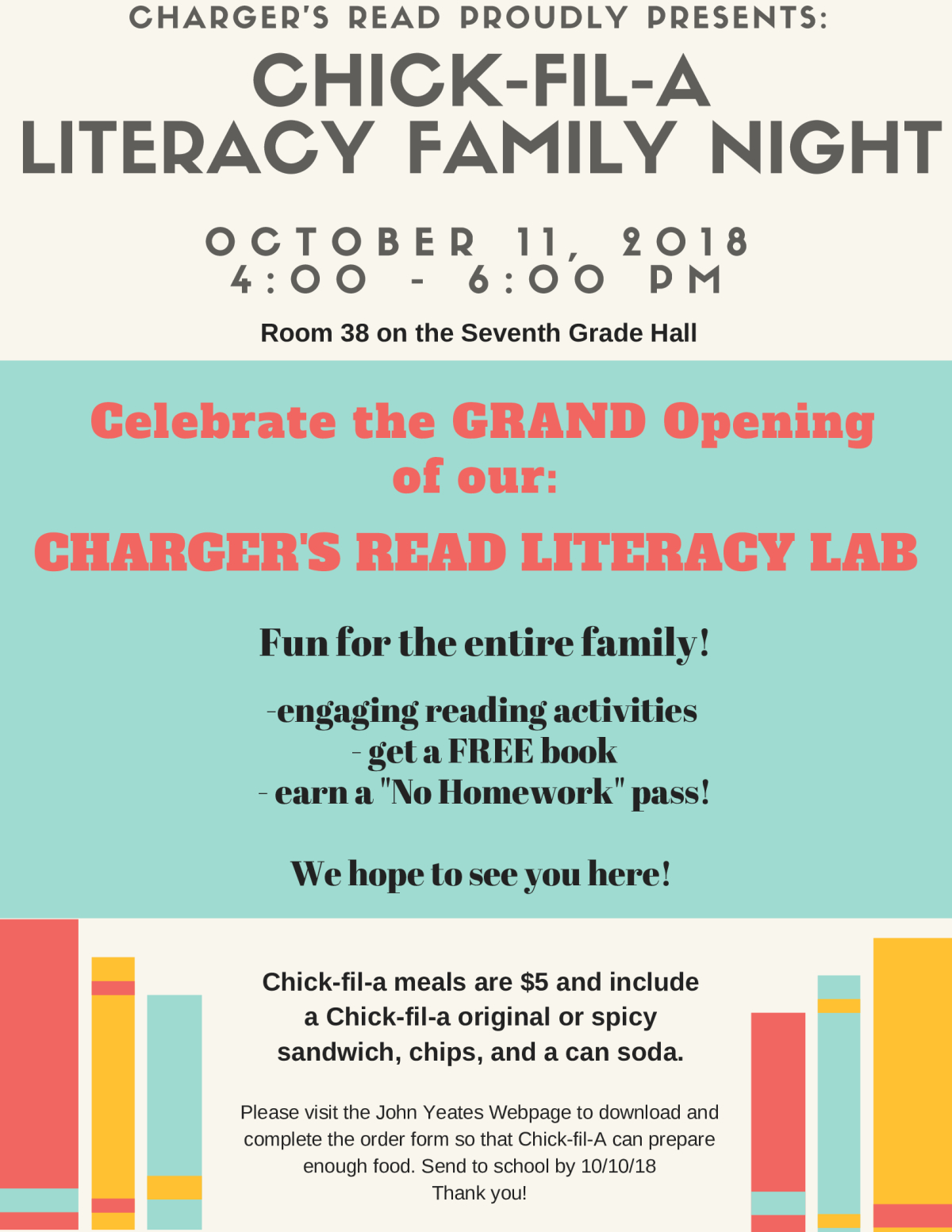 Image of a flyer titled Literacy Night