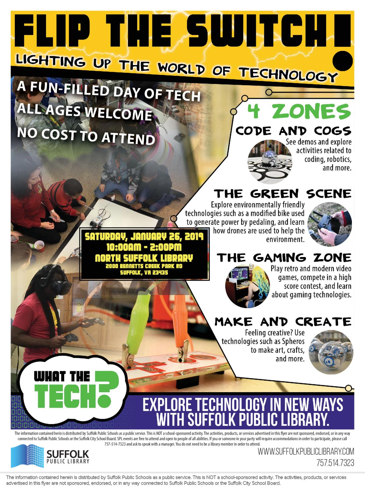 Image of a flyer titled Flip the Switch!: A Fun-Filled Day of Tech