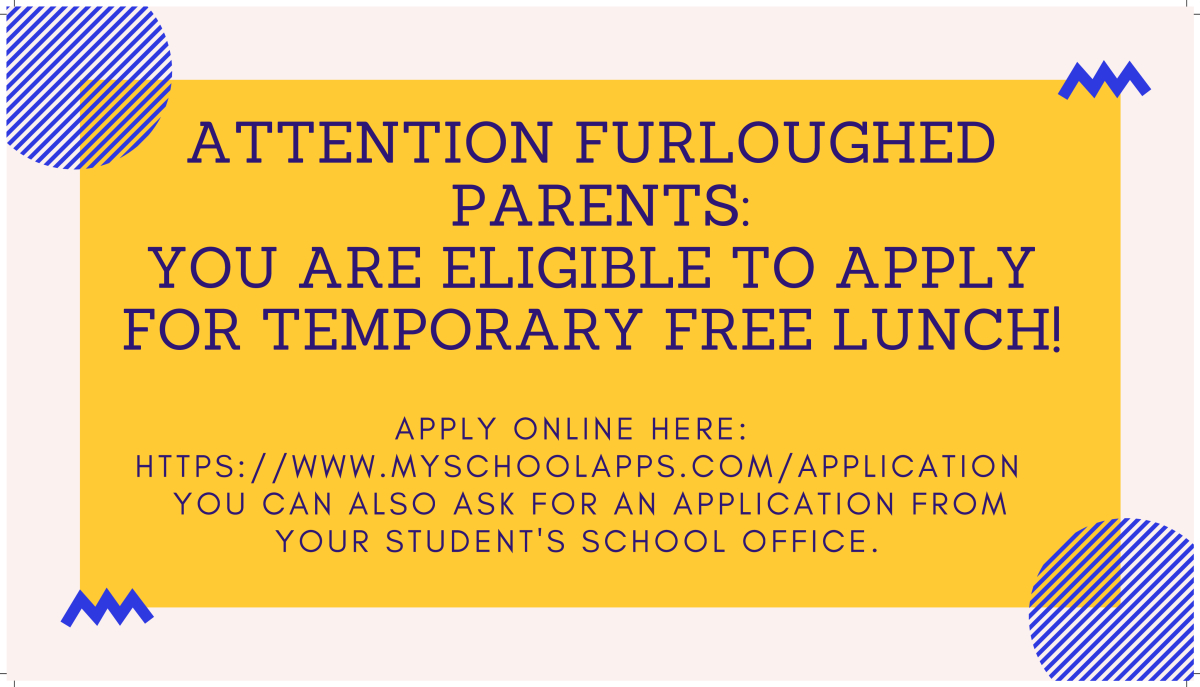 Image of a flyer titled Attention Furloughed Parents: You are eligible for Temporary