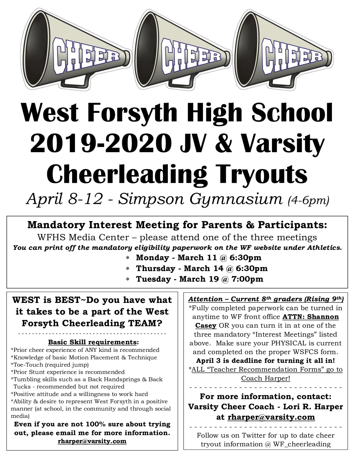 Best Of Forsyth 2020 West Forsyth Cheer Tryouts
