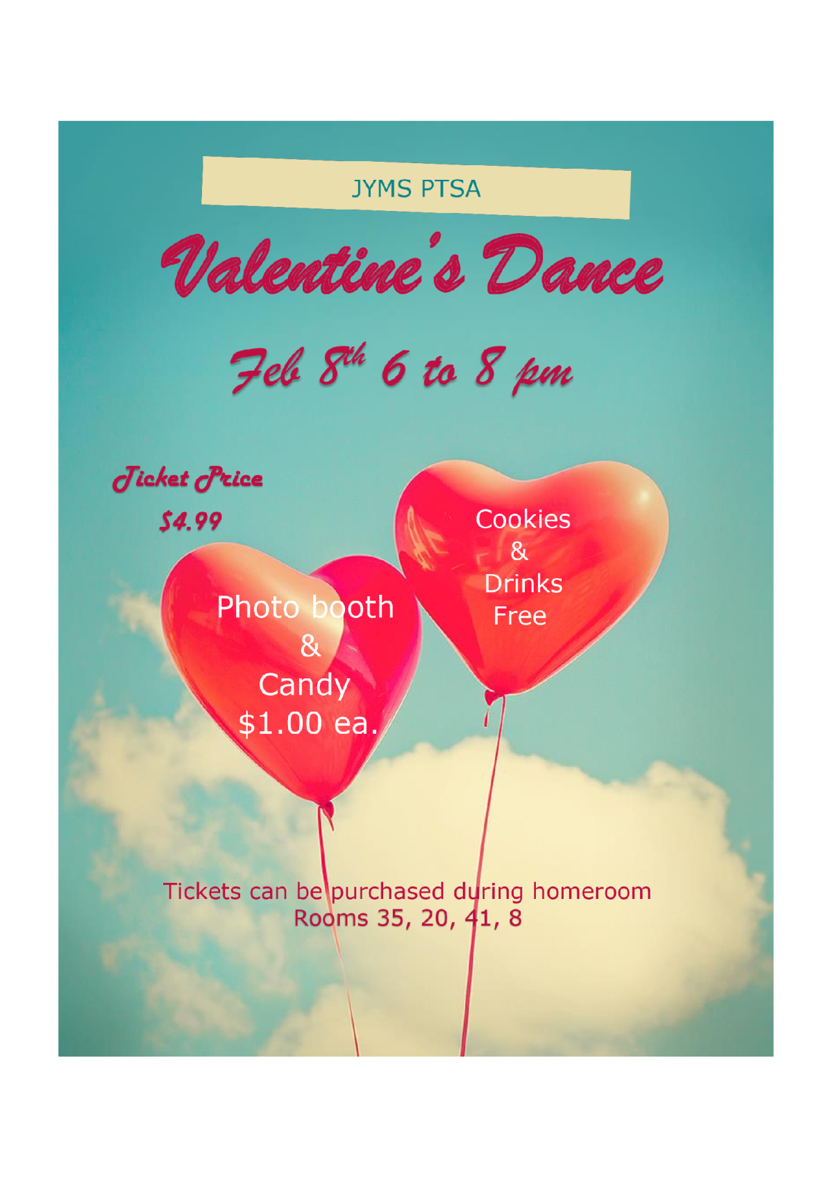 Image of a flyer titled Valentine's Dance