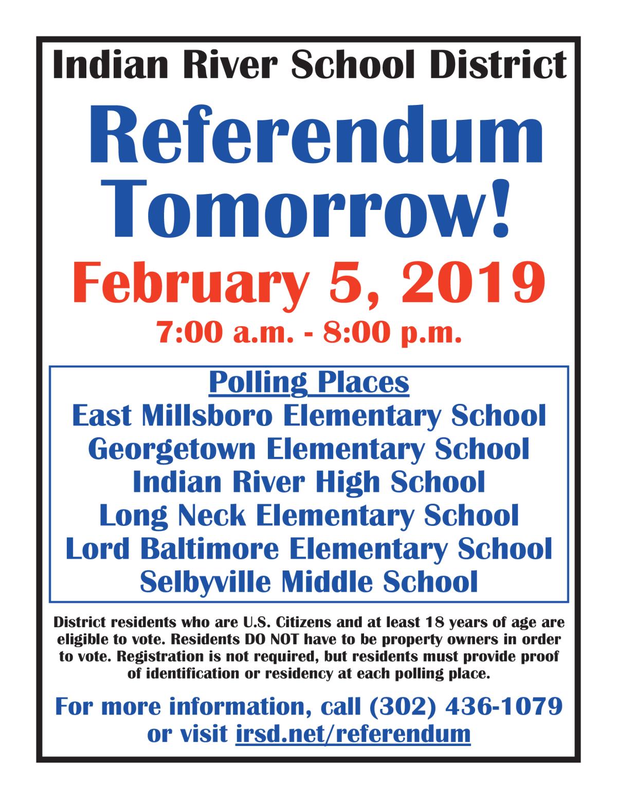 fa2040405c6 Image of a flyer titled Referendum Tomorrow!