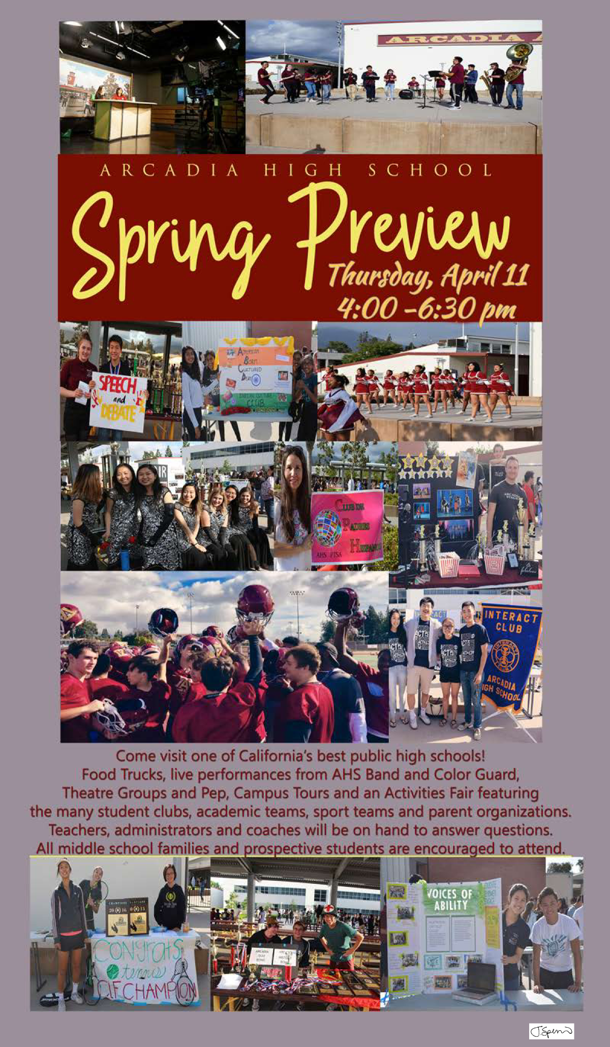 Arcadia High Open House & Spring Preview