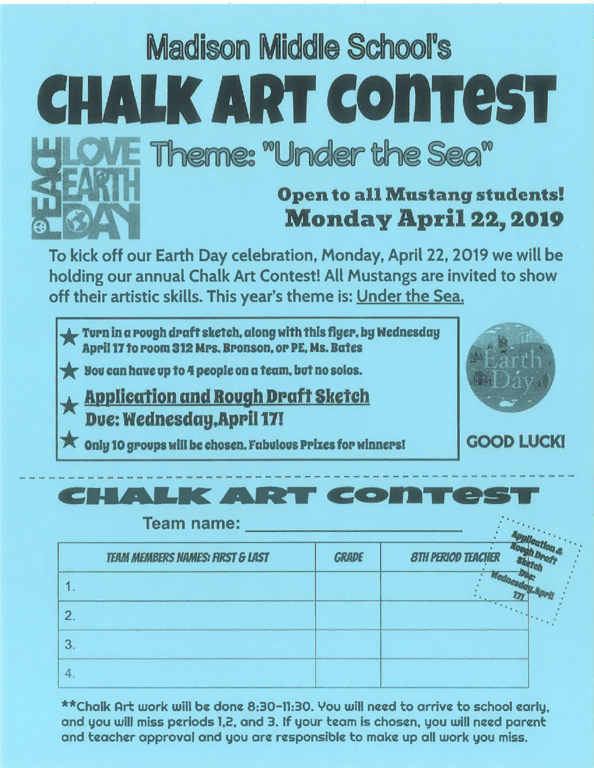 Image Of A Flyer Led Chalk Art Contest