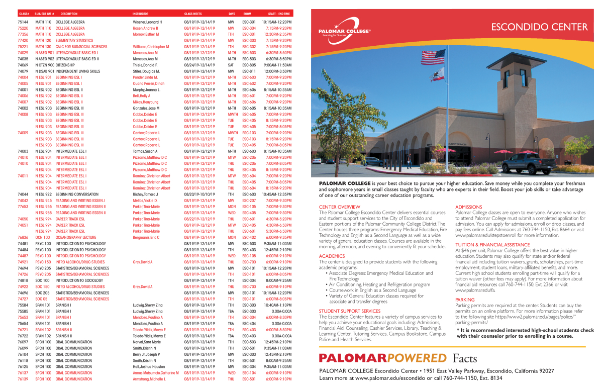 palomar college application deadline fall 2019