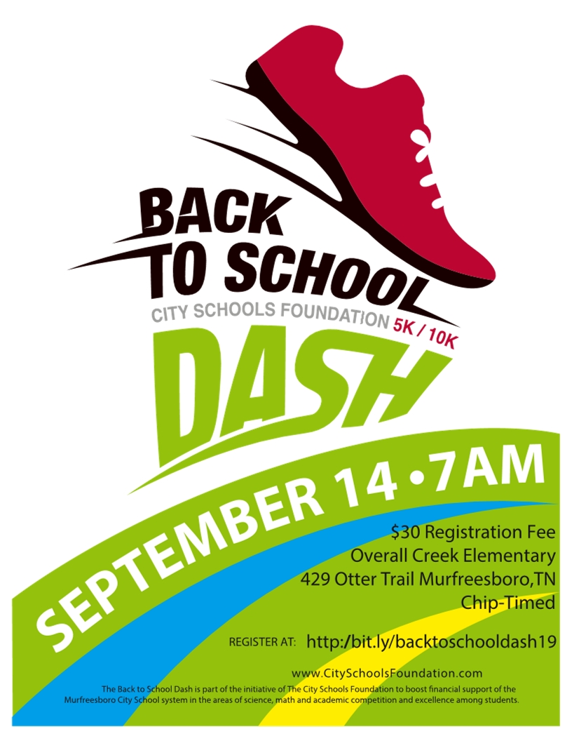 Image of a flyer titled Back to School Dash