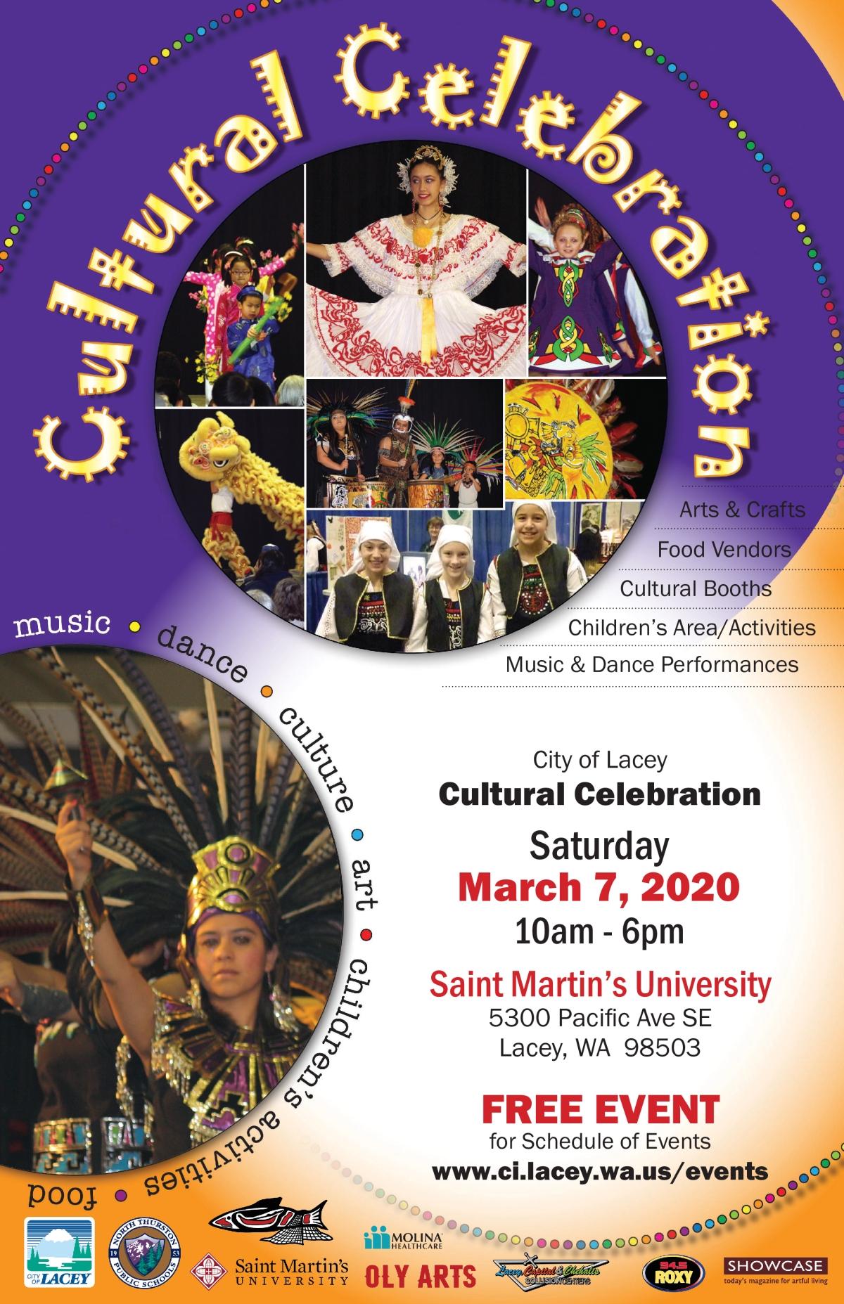 Image of a flyer titled Cultural Celebration