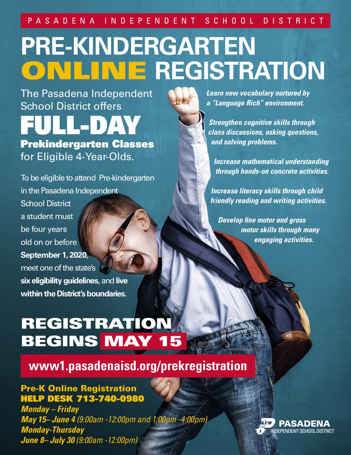 Pre-Kindergarten Online Registration