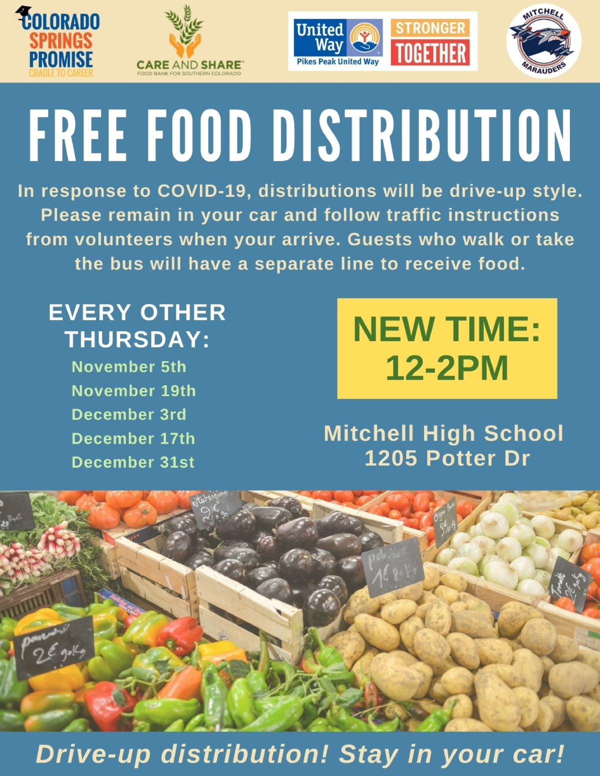 Image of a flyer titled FREE Food Distribution
