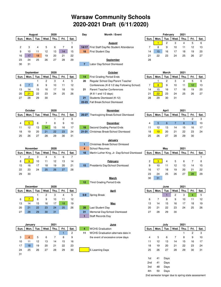 Wcs Calendar 2022.Wcs 2020 2021 Calendar