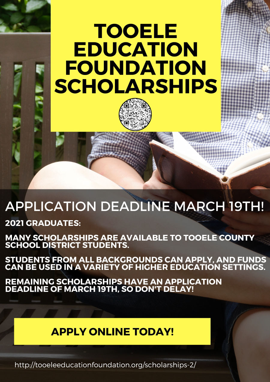Image of a flyer titled TEF Scholarship Deadline Approaches