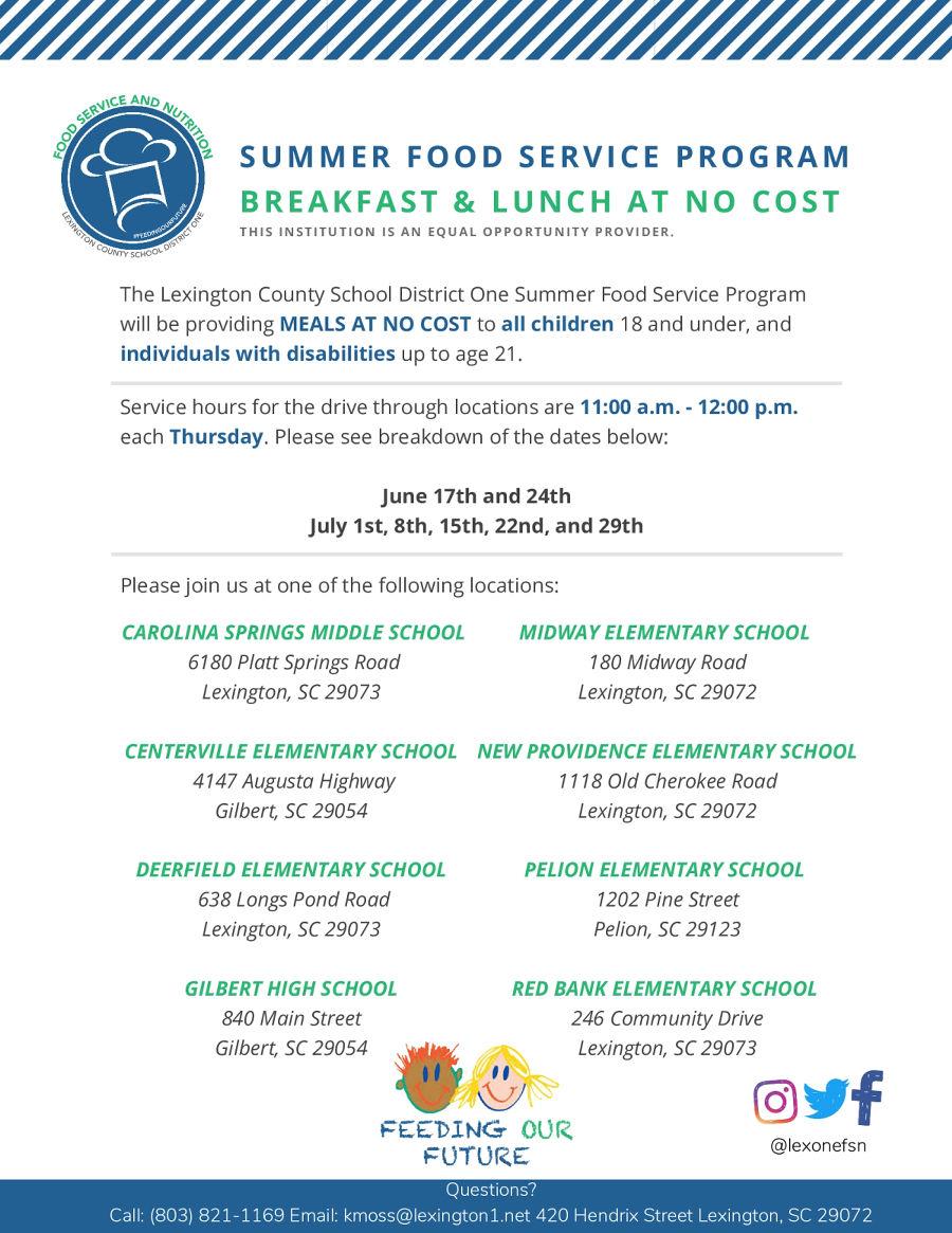 Image of a flyer titled Summer Food Service Program
